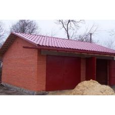 Строительство гаражей из кирпича
